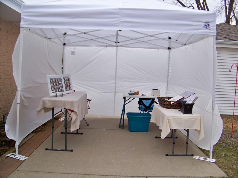 Art Tent Set-up